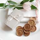 Chocolate 'Wax' Wedding Favour Seals, 10