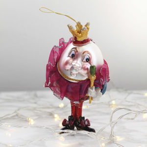 Kitsch Humpty Dumpty Glass Christmas Decoration - new lines added