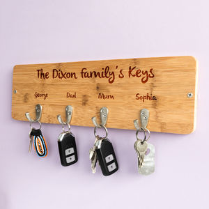 Personalised Family Key Hook