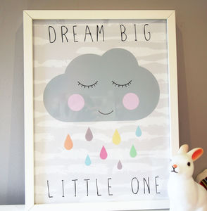 Cloud Nursery Print - children's pictures & paintings
