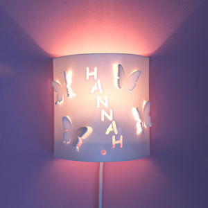 Personalised Butterfly Wall Night Light - children's room