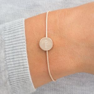 Ava Personalised Disc Bracelet - what's new