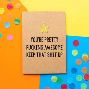 Fucking Awesome | Funny Thank You Card