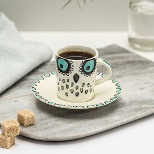 Owl Espresso Cup And Saucer