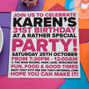 Bright And Bold Party Invitations For All Occasions