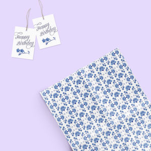 Gift Wrap And Tags Set : Loren - winter sale