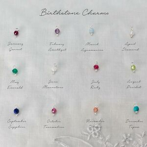 Add Your Own Semi Precious Faceted Birthstone Charm