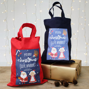 Kids Personalised Christmas Shopper Bag