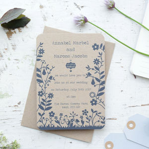 Countryside Wedding Day/Evening Invitation