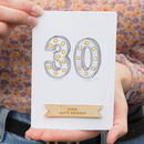 Personalised Marquee Lights 30th Birthday Card