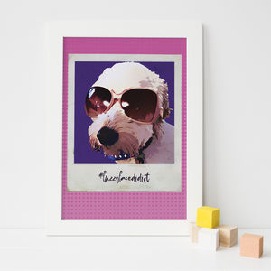 Pop Art Polaroid Personalised Dog Print - pet portraits