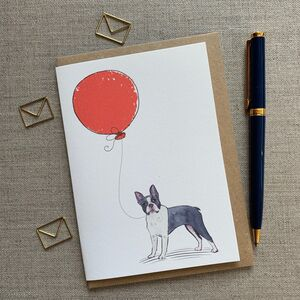 Personalised Boston Terrier Birthday Card