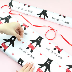 Personalised Sexy Thing, Wrapping Paper - wrapping paper & gift boxes