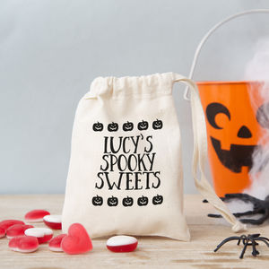 'Text' Halloween Gift Bag With Sweets
