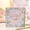 Get Well Soon Botanical And Gold Greeting Card