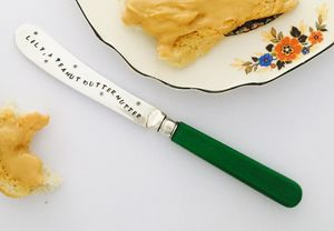 Personalised Silverplated Butter Knife - cheese boards & knives