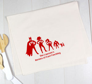 Personalised Superhero Tea Towel - new in home