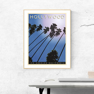 Hollywood Vintage Style Travel Print - posters & prints