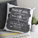 Typographic Story Of Us Cushion