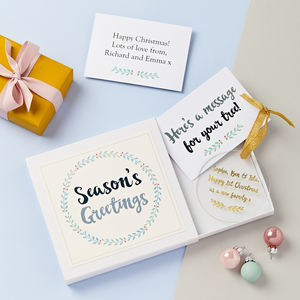Christmas Message Decoration Gift Set - cards