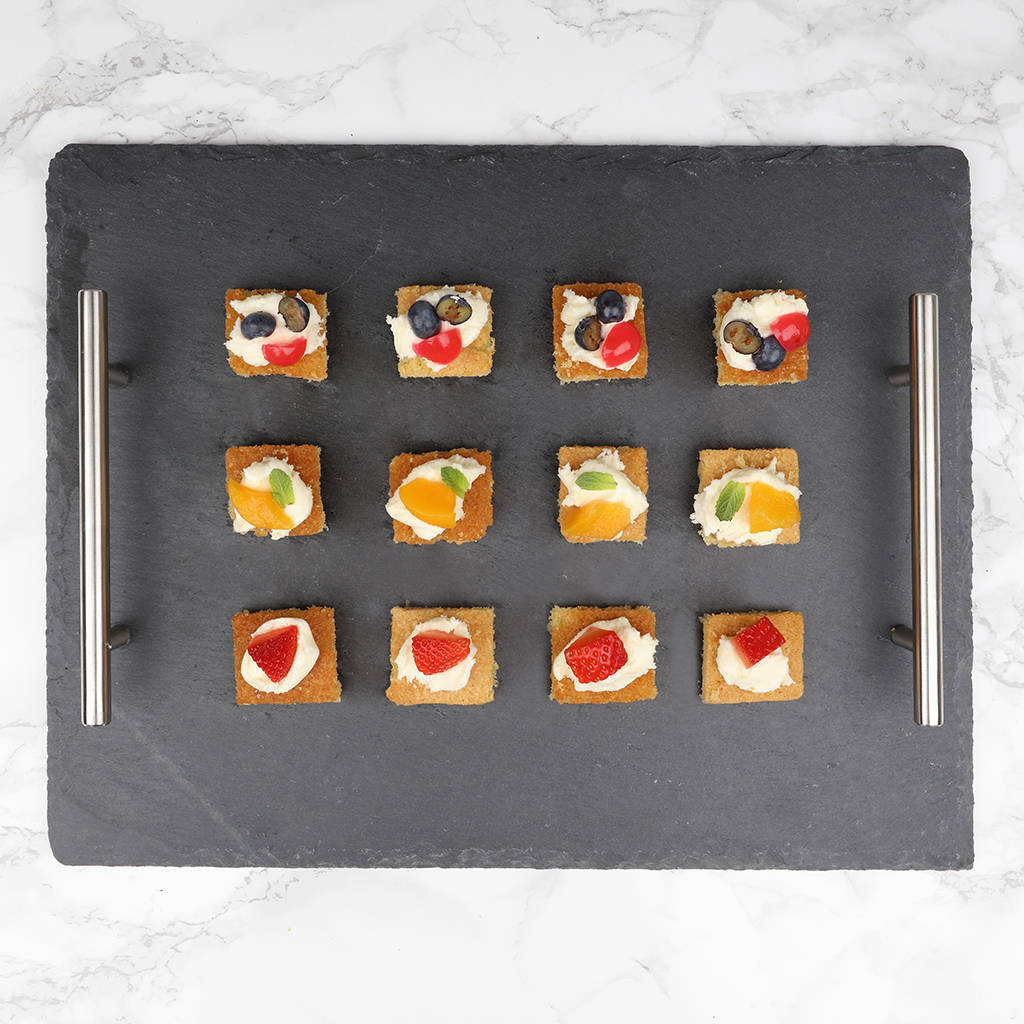 slate christmas canapes serving tray by dibor. Black Bedroom Furniture Sets. Home Design Ideas