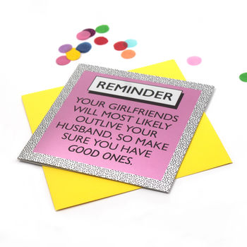 Funny Card 'Good Girlfriends' Mirror Card