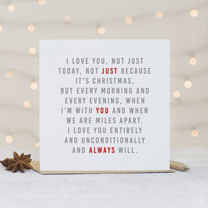 'Always' Christmas Card