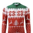 Mens Short Sleeve Christmas Jumper Cycle Jersey