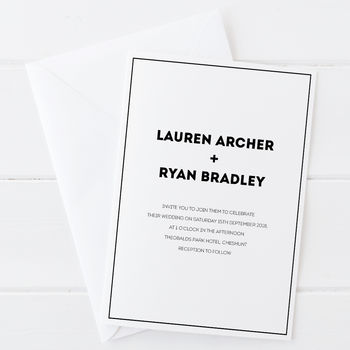 Wedding Invitation Set Archer Collection
