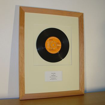 Framed First Dance Wedding Song: Original Vinyl Record