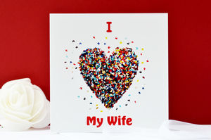 I Love My Wife Butterfly Heart Card - cards & wrap