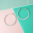Battered Silver Small Hoop Earrings