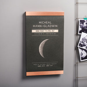 Personalised Moon Phase Copper And Canvas Print - photography & portraits