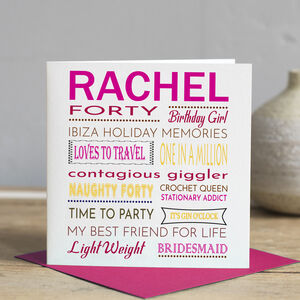 Personalised Best Friend Birthday Card