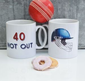 Personalised 'Not Out' Cricket Mug