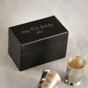 Nickel Shot Glasses In Personalised Box