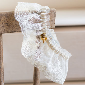 Bee And Lace Wedding Garter Gift For The Bride