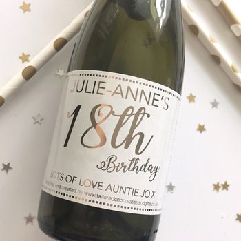 Mini 18th Birthday Champagne/Prosecco Label