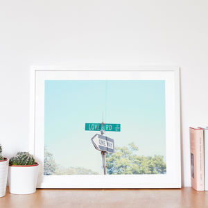'Love Bird' American Street Sign Photographic Print - paintings