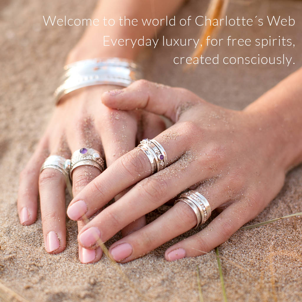 celestial moon ring by charlotte\'s web jewellery ...