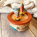 Space Dancing Figurines Wooden Music Box