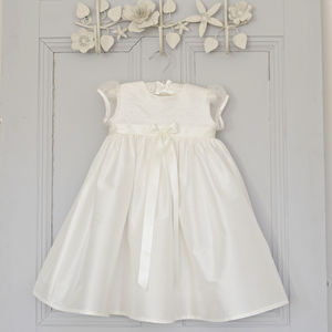 Sienna Silk Christening Dress - dresses