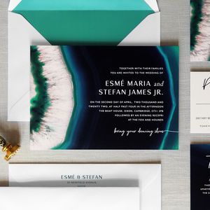 Agate Wedding Invitation Set