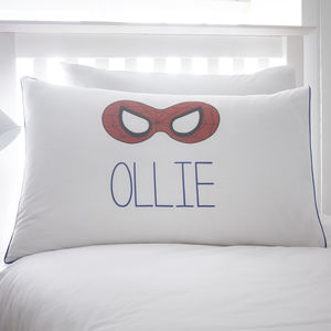 Personalised Spider Mask Pillowcase - bedding & accessories