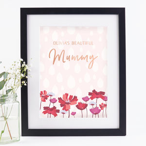 Mummy Personalised Foil Print