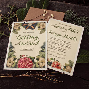Botanical Floral Themed Wedding Invitations - invitations