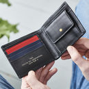 Personalised Leather Colour Block Coin Wallet