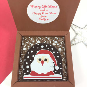 Chocolate Personalised Message Christmas Santa Gift - chocolates & confectionery