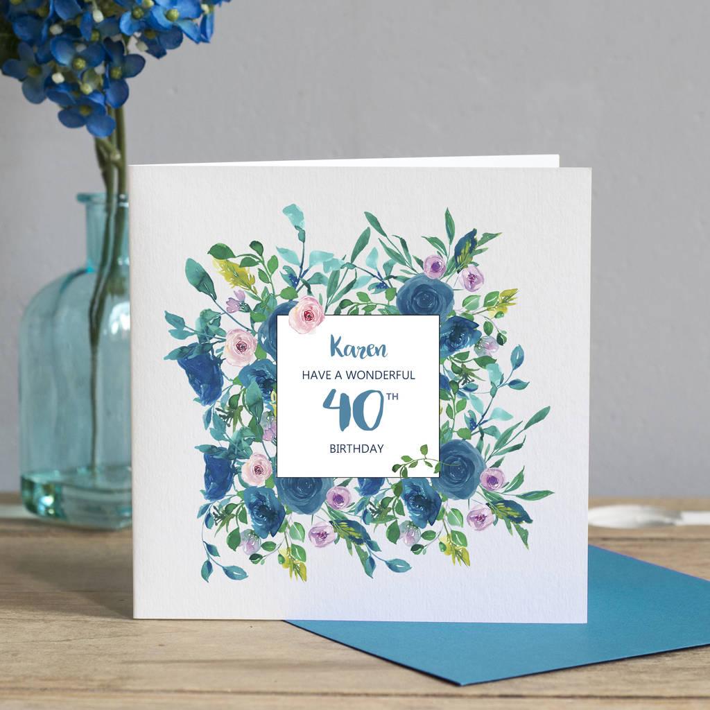 40th Birthday Floral Card
