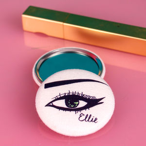 Personalised Eye Compact Mirror - gifts for teenage girls